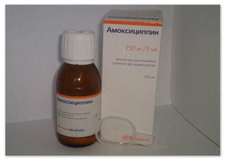 Амоксицилін у вигляді суспензії - зручна дитяча форма