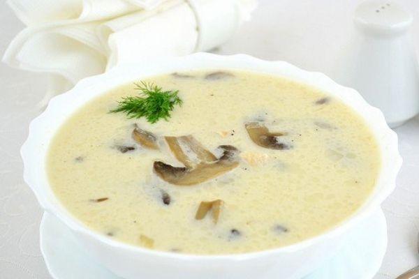 Грибний суп з плавленим сиром. - Рецепт з фото.