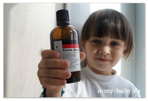 Хілак форте для дітей - відновлюємо мікрофлору, щоб живіт не болів