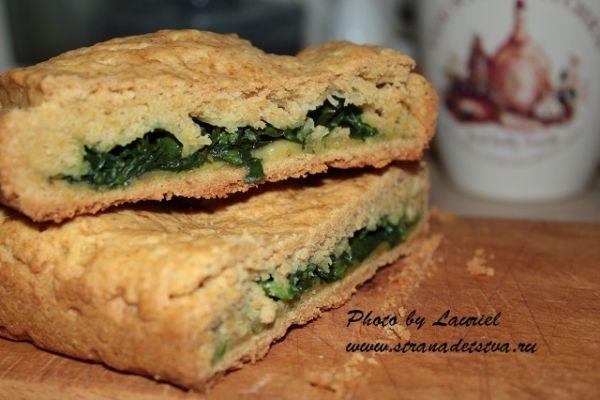 Пиріг із зеленню - рецепт з фото.