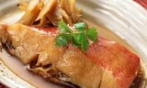 риба в соусі з щавлю (від 3 до 7 років)