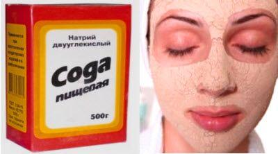 очищають і омолоджуючі маски з соди за рецептами