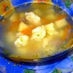 Суп з галушками на індичатині