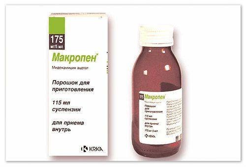 Суспензія макропен для лікування поширених інфекцій у дітей
