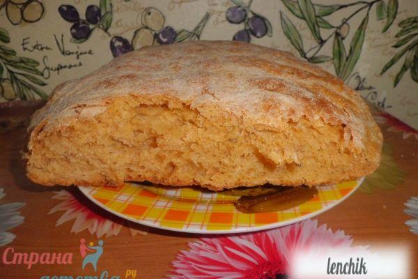 Томатний хліб з часником і кмином - рецепт з фото.